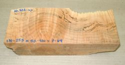 Ah322  Oregon Maple Spalted 170 - 255 x 90 - 100 x 7 - 64 mm
