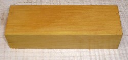 Amarello, Yellow Heart Knife Blank 120 x 40 x 30 mm
