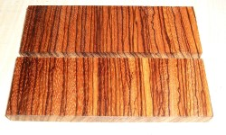 Zebrano Cross Cut Griffschalen 120 x 40 x 10 mm