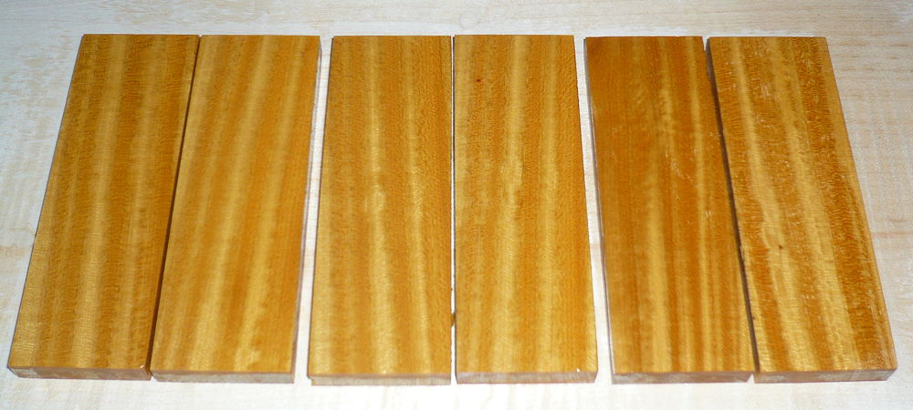 Satinwood, East Indian Knife Scales 120 x 40 x 10 mm