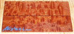 Mahagoni pommelé Griffschalen 140 x 40 x 4 mm