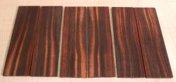 Macassar, Coromandel Straight Razor Scales 140 x 40 x 4 mm