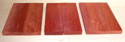 Blutholz, rotes Satinholz Griffschalen 120 x 40 x 10 mm