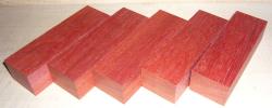 Blutholz, rotes Satinholz Griffblock 120 x 40 x 30 mm