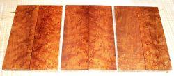 Vogelaugenahorn getempert Griffschalen 120 x 40 x 10 mm