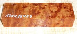 Roasted Birds Eyes Maple Knife Blank 120 x 35 x 25 mm