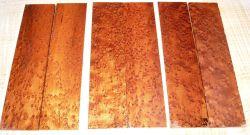 Vogelaugenahorn getempert Folder-Griffschalen 140 x 40 x 4 mm