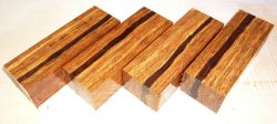 Bamboo stabilized Razor Knife Block striped 120 x 40 x 30 mm