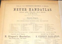 Kiepert's Handatlas, Neuer Handatlas über alle Theile der Erde. Entworfen und bearbeitet von Dr. Heinrich Kiepert