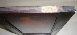 Mt003 Antique inlaid Cabinet Door, Patinated Furniture Panel 410 x 260 x 20 mm