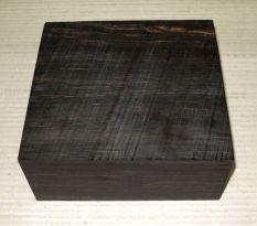 Eb008 Ebony Bowl Blank 175 x 175 x 75 mm