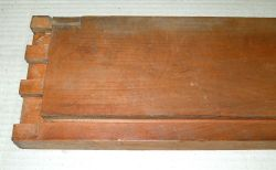 Ki509 Antique Biedermeier Solid Cherry Wood Panel 955 x 135 x 25 mm
