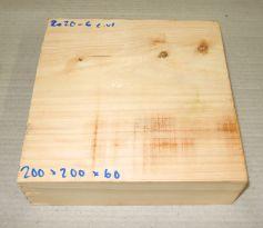 Ze020-6 Echte Libanon-Zeder, Libanon Zedernholz 200 x 200 x 60 mm