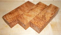 Oregon-Ahorn, Quilted Maple Griffblock 120 x 40 x 30 mm