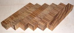 Zebrano Cross Cut Pen Blank 120 x 20 x 20 mm