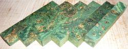 Pappel Maser Pen Blank grün stabilisiert 120 x 20 x 20 mm