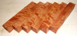 River Red Gum, Red Eucalyptus Curly Pen Blank 120 x 20 x 20 mm