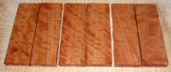 River Red Gum, Red Eucalyptus Curly Knife Scales 120 x 40 x 10 mm