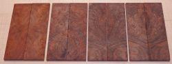 Walnut Burl, Black Walnut Razor Knife Scales 140 x 40 x 4 mm