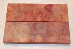 Camphor Burl Knife Scales 120 x 40 x 10 mm