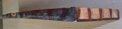 RueA901 Antique Biedermeier Solid Elm Wood  720 x 140 x 25 mm