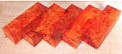 Amboyna Burl Knife Block 120 x 40 x 30 mm