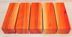 Peroba Rosa, Salmon Wood Knife Block  120 x 40 x 30 mm