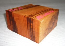 Ga010 Tigerwood, Goncalo Alves Block 100 x 100 x 50 mm