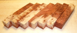 Red Mallee Burl bicolour Pen Blank 120 x 20 x 20 mm
