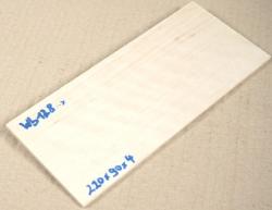 Wb128 Weißbuche 220 x 90 x 4 mm