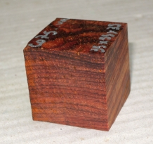 Co075 Cocobolo Ring Blank 35 x 35 x 35 mm