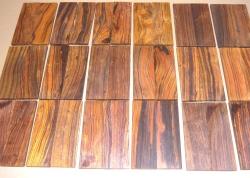 Wüsteneisenholz Griffschalen unpaarig Sonderposten ca. 135 x 45 x 7-8 mm
