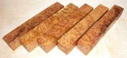 York Gum Burl Pen Blank 120 x 20 x 20 mm