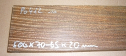 Po412 Bulnesia, Vera Wood Plane sole 500 x 70-65 x 20 mm