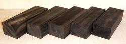 Ebenholz 5 x Griffblöcke B-Sortierung a 120 x 40 x 30 mm