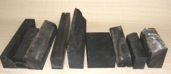 Eb009s Ebenholz Sortiment Abschnitte, Reste ca. 100 - 300 mm lang