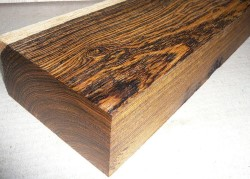 Bocote Knife Scales 120 x 40 x 10 mm