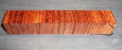 Bubinga Cross Cut Pen Blank 120 x 20 x 20 mm