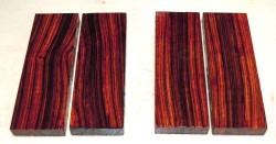 Cocobolo Messergriffschalen 120 x 40 x 10 mm