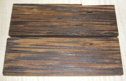 Palm Wood Black Knife Scales 120 x 40 x 10 mm