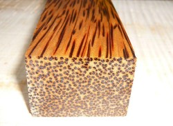 Palm Wood Red Palmira Knife Blank 120 x 40 x 30 mm