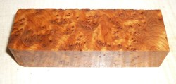 Thuya Burl Knife Blank 120 x 40 x 30 mm