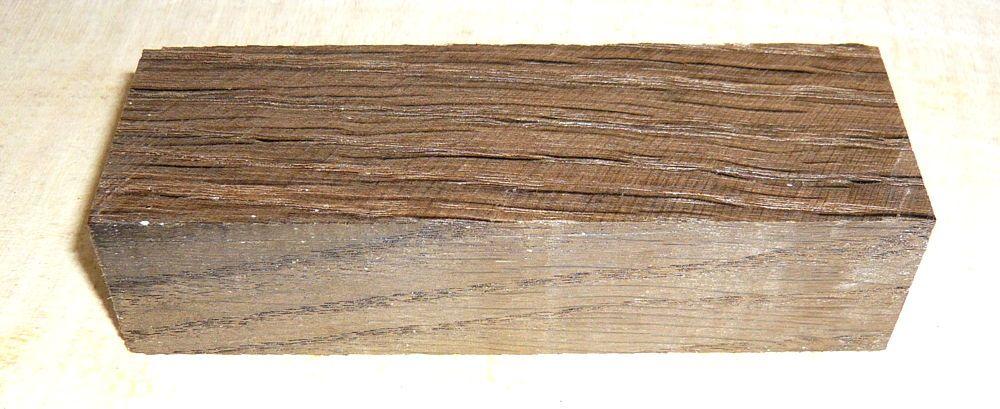 Fumed, Smoked Oak Knife Blank 120 x 40 x 30 mm