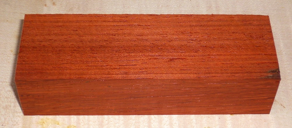 Padauk Knife Blank 120 x 40 x 30 mm