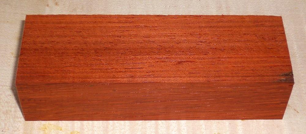 Padouk Messergriffblock 120 x 40 x 30 mm