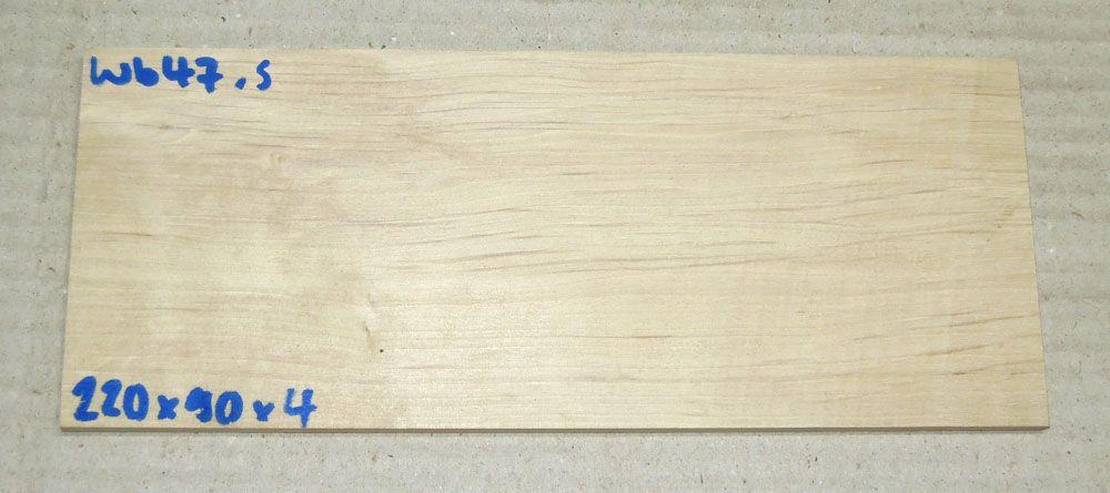 Wb047 Weißbuche Sägefurnier 220 x 90 x 4 mm