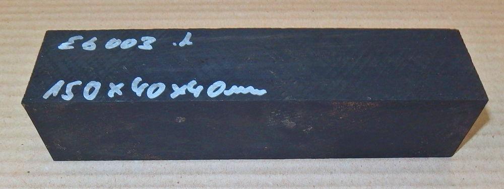 Eb003 Ebony Blank 150 x ca. 39 x 39 mm