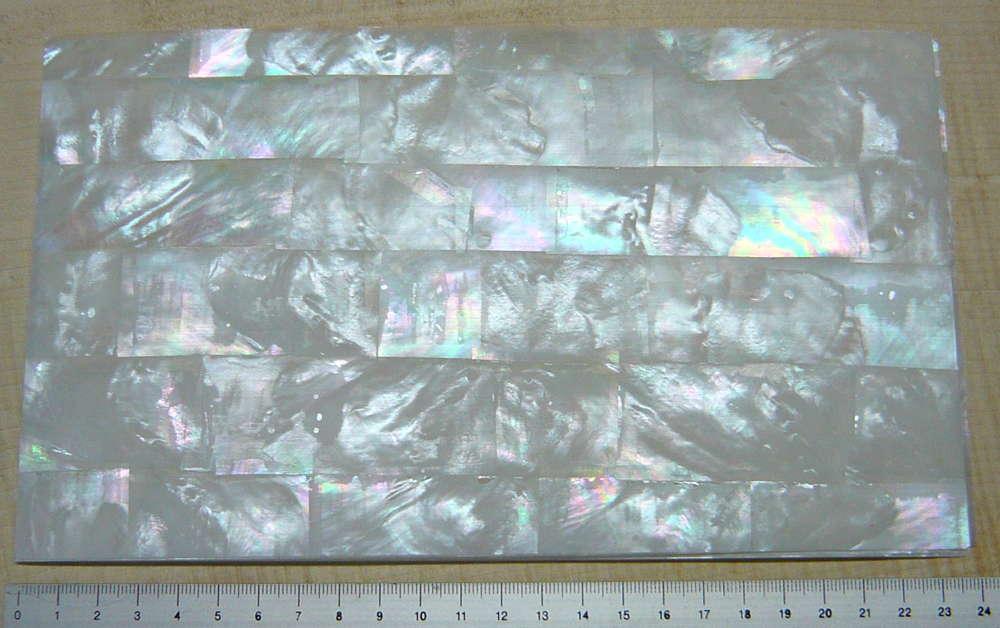 Perlmutt-Furnier Makassar weiß 240 x 140 x 0,15 mm dick