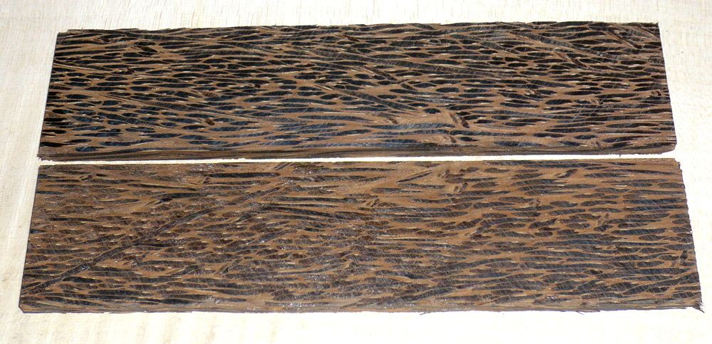 Palm Wood Black Knife Scales 140 x 40 x 4 mm