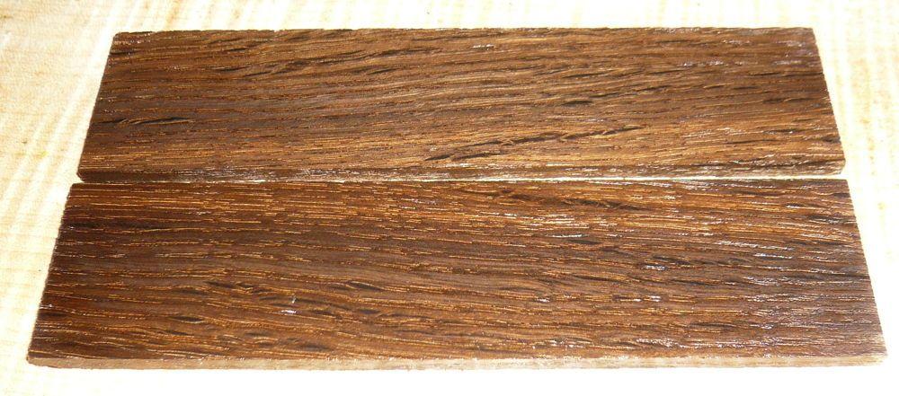 Smoked Oak Razor Knife Scales 140 x 40 x 4 mm